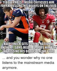 Tebow Meme - tebow vso media criticizes him for expressing hisbeliefs on the