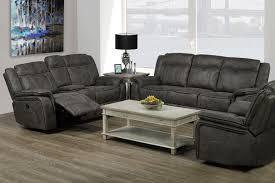 Grey Recliner Sofa T 1417 S Recliner Sofa Grey Furniture Deco Depot
