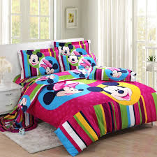 Mickey Mouse King Size Duvet Cover Striped Purple Mickey And Minnie Mouse Full Size Bedding Kids