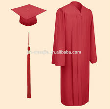 pink cap and gown graduation gown and cap for high school students view