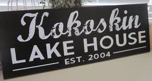 custom family name wood sign lake house sign cabin sign shore
