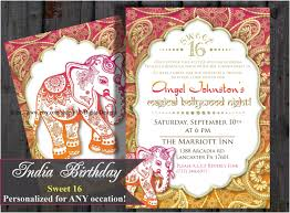 sweet 16 sixteen birthday bollywood invitation indian