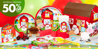 the party supplies farmhouse birthday party supplies party city
