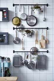 small galley kitchen storage ideas best 25 hanging pans ideas on hanging pots pot rack