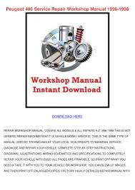peugeot 406 service repair workshop manual 19 by dorthycobb issuu