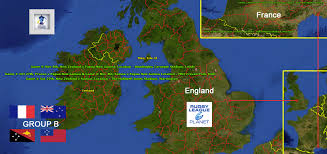Hull England Map by Rugby League Planet 2013 Rugby League World Cup