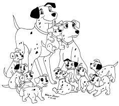 printable 101 dalmatians cartoon coloring pages printable kids