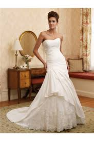 draped wedding dress a line strapless draped taffeta lace beaded wedding dress with buttons