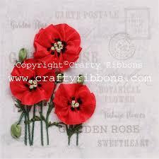 silk ribbon embroidery silk ribbon embroidery kit poppies