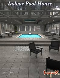 indoor pool house 3d models and 3d software by daz 3d