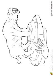 a colorier le dangereux dinosaure tigre aux dents de sabre