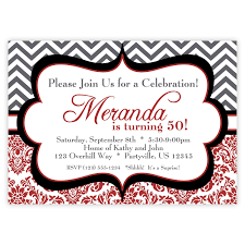 free printable invitations for 50th birthday party wedding