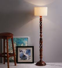 Wooden Floor Lamp Buy Off White Twisted Wood Floor Lamp By The Light House Online