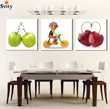 3 piece sell wall painting of delicious fruit home decor art
