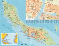 Bonaire Map Large Detailed Road Map Of Curacao Island Netherlands Antilles