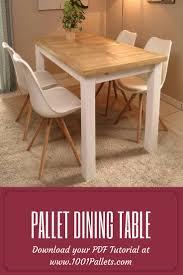 diy pdf tutorial pallet dining table u2022 1001 pallets u2022 free download