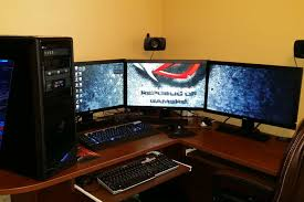 Two Computer Desk Setup How To Set Up Monitors For Pc Gaming Digital Trends