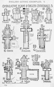 gothic cathedral floor plan comparative plans of english gothic cathedrals a history of