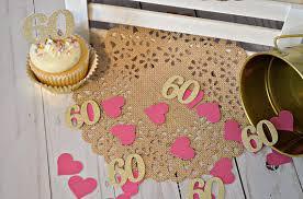 60th birthday party decorations 60th birthday confetti 60th anniversary confetti 60 confetti 60th