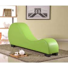 Home Depot Chaise Lounge Chairs Green Faux Leather Chaise Lounge Cl 06 The Home Depot