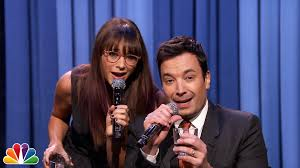 jimmy fallon and rashida jones sing parodies of 2014 pop