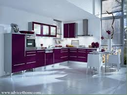 Modular Kitchen Interiors Wall And Purple Modular Kitchen Design