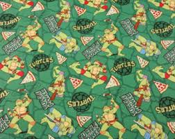 tmnt wrapping paper turtle quilt etsy