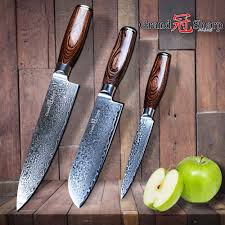 vg10 kitchen knives aliexpress com buy grandsharp 3pcs damascus knife set 67 layers
