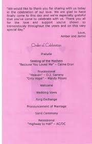 what goes on a wedding program what information goes in the wedding program other than the line