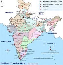 best tourist map of top tourist destinations in india map
