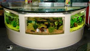 half circle desks table aquarium image photos pictures ideas
