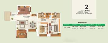 2 bhk and 3 bhk floor plans of greens pune