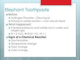 8 elephant toothpaste before hydrogen peroxide clear liquid potassium iodide