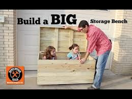 Build Your Own Toy Chest Bench by Build A Big Outdoor Storage Bench By Home Repair Tutor Youtube