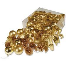 gold tree decorations box peeks