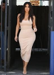 kim kardashian showcases her amazing hourglass figure and famous