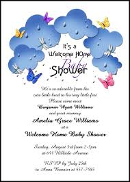 welcome home baby shower personalize your welcoming and new baby butterflies in the