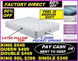 sofa king direct new queen mattress latex pillow top 5 zone pocket spring mattress