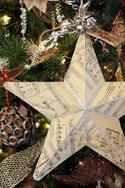 Sheet Music Christmas Tree Ornament by Sweet Something Designs Sheet Music Star Tutorial Christmas