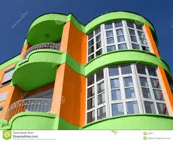 colorful building modern colorful building stock image image of architecture 919371