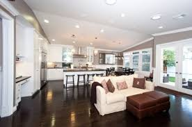 Kitchen Living Room Open Floor Plan Uncategorized Open Floor Plan Furniture Layout Ideas Astonishing
