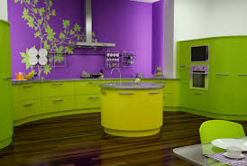 unique decoration green purple kitchen plant decals decosee com