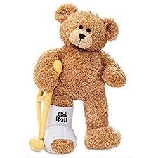 get well soon teddy gund a leg jr broken leg get well soon