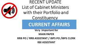 Portfolio Of Cabinet Ministers Recent Update List Of Cabinet Ministers For Banks Main Exam