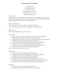 Resume Templates For Microsoft Office Microsoft Office Resume Thebridgesummit Co