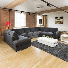 Sofa Set U Shape Extra Large Sofa Set Settee Corner Group U L Shape Black 4 0 X