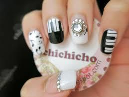 piano and music nail art nail wrap s1257 chichicho
