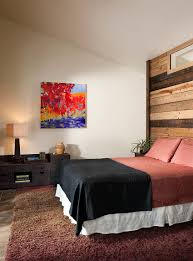 Purple Bedroom Feature Wall - bedroom design contrast wall ideas cool accent walls accent paint