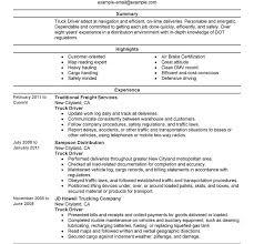 Sample Resume For Truck Driver Download Resume For Truck Driver Haadyaooverbayresort Com