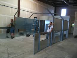 build a shop building a spray booth in one day truestreetcars com
